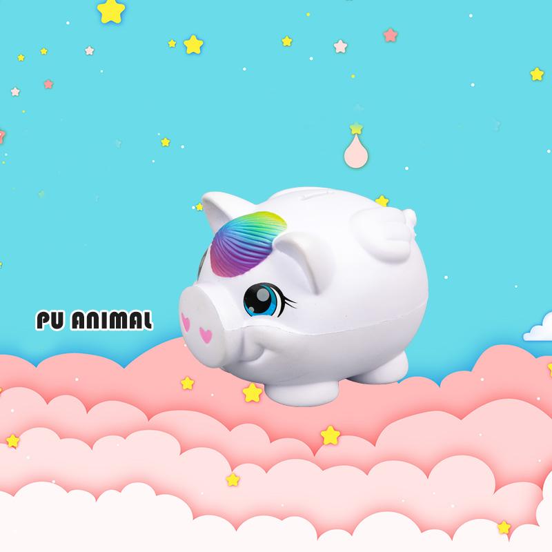 PU ANIMAL TOYS-RAINBOW PIG