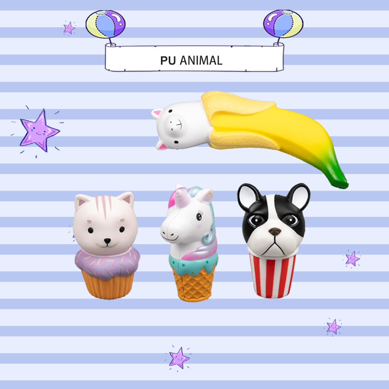 PU ANIMAL TOYS-ICE CREAM SERIES
