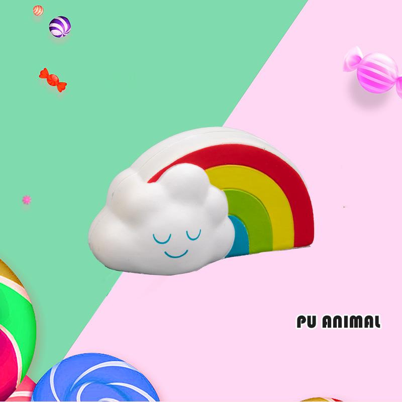 PU ANIMAL TOYS-RAINBOW CLOUD