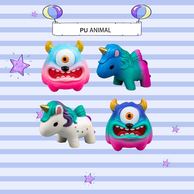 PU ANIMAL TOYS-RAINBOW SERIES